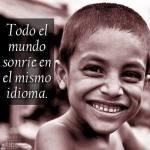 Todo el mundo sonríe en el mismo idioma