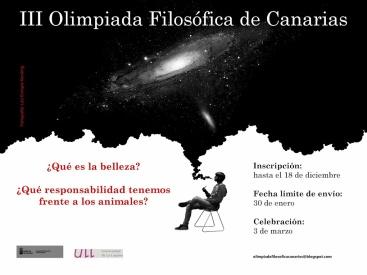 cartel Olimpiada Filosófica Canarias